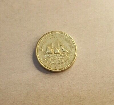 1998 Bailiwick of Jersey Resolute Ship - British One Pound / £1 Coin