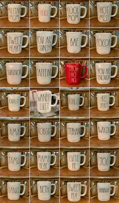 Rae Dunn CHOOSE YOUR OWN MUG Large Letters FAST & SAFE SHIPPING NWT