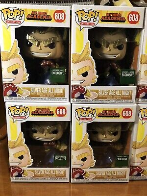 Funko Pop My Hero Academia Silver Age All Might Barnes & Noble Metallic Excl B&N