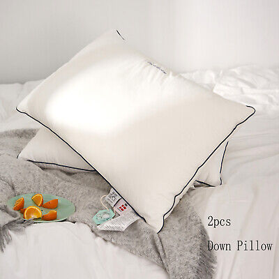 1000TC The Finest100/% Cotton Down Feather Pillows Queen Size Set of 2