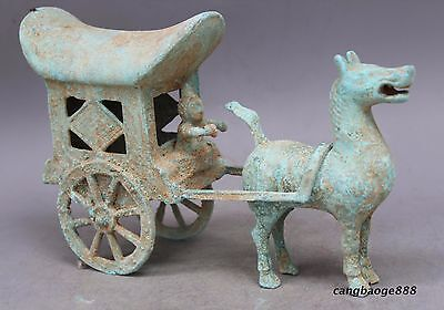 antique The warring states bronze carts a667