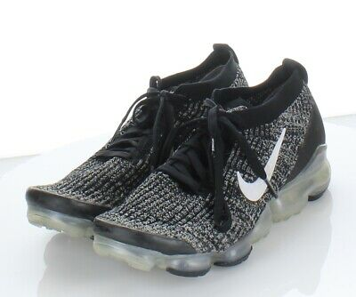 17-38 Nike Vapormax Flyknit Black/White Running Shoe Men's Sz 10.5 M