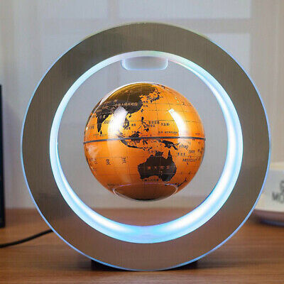 "4"" Floating Globe Magnetic Levitation World Map Gift Auto Rotating High Quality"