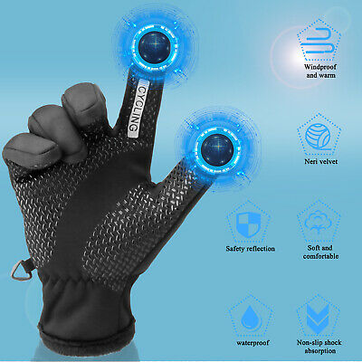 -30℃ Waterproof Winter Ski Gloves Touch Screen Warm Mittens Snow Snowboarding US