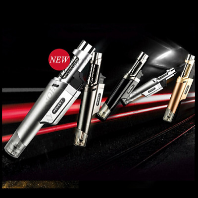 Outdoor Single Jet Torch Lighter Refillable Windproof Butane Gas Baking Flame