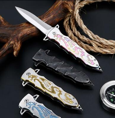 Tactical Pocket Folding Knife Drawing Sharp Stainless Camping Survival Blade