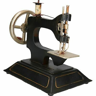Sewing Machine Metal Model Sculpture Statue Decoration Money Box Bank Coin