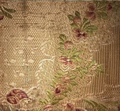 BEAUTIFUL FRAGMENT 19th CENTURY SILK FLORAL BROCADE, SPITALFIELDS, LYON 222