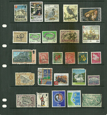 British Commonwealth  6 stock sheets   large mix collection stamps