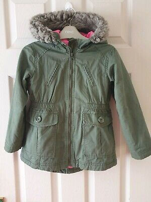 Old Navy Kids Girls Green Khaki Jacket Parka Size 5 Years