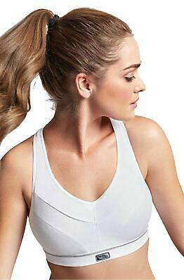 Royce Impact Free Flex Fit Adjustable Racerback Sports Bra White 34A CS