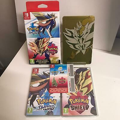 Pokemon Sword and Shield Dual Pack + Steelbook Case Nintendo Switch Game SEALED