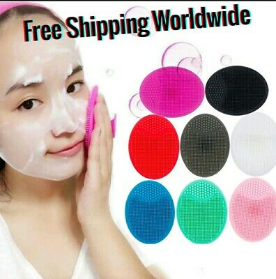 Face Cleaning Brush Silicone Facial Wash Pad Exfoliating Soft Deep Cleaning Face