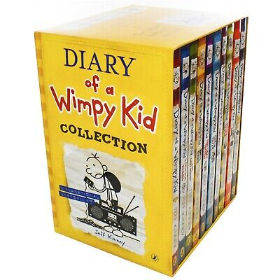 Diary Of Wimpy Kid Series 10 Books Children Collection Paperback By Jeff Kinney