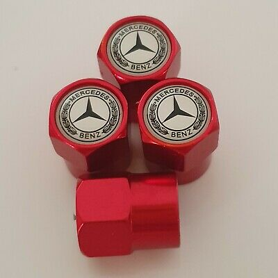MERCEDES BENZ Type metal Wheel Valve Dust caps all models Red 5 Color AMG SLK