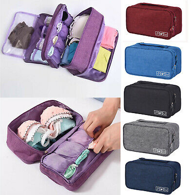 Clothes Underwear Bra Socks Packing Cube Storage Travel Luggage Organizer Bag