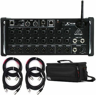 Behringer X Air XR18 Digital Mixer with Case and Cables