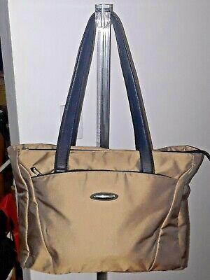 Briggs & Riley Large Brown Tote Travel Carryon Overnight  Bag-Guc!