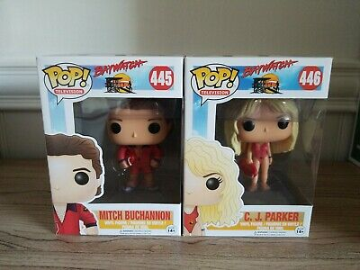 Funko Pop Television #445 Mitch Buchannon & #446 C.J. Parker Baywatch