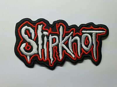 "Slipknot band PATCH 4.5/"" Iron-on Metal Music Embroidered Slip Knot Patches"
