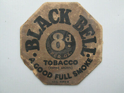 Pre War Black Bell Tobacco / A1 Light Tobacco Beermat.