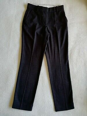 Girls/Ladies size 4 black check tapered trousers H&M v. good condition