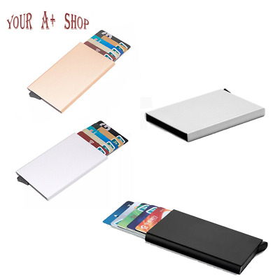 Men RFID Blocking ID Credit Card Holder Aluminum Slim Money Travel Wallet Gift