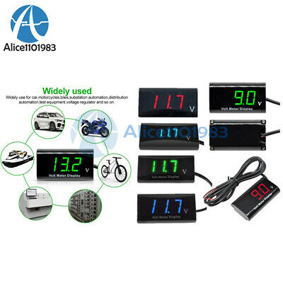 DC3-18V 12V Digital Blue/White/ IPX6 LED Voltmeter Panel Voltage Meter For Car