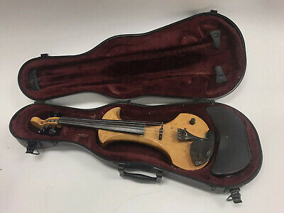 1999 ZETA SV245 Curly Maple Strados 5 String Electric Violin With Hard Case