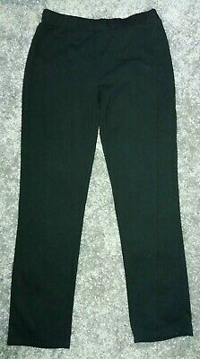 Girls black George Polyester/viscose School Trousers. Age 15-16 years.