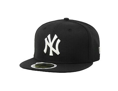 New Era 59Fifty Boys Kids Youths Size Cap New York Yankees Black Fitted 5950 Hat
