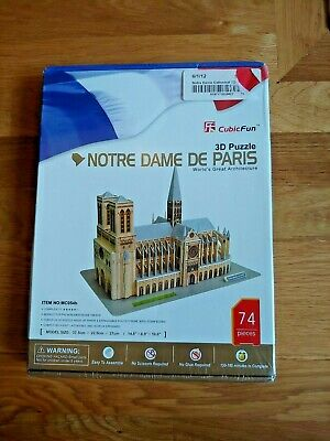 3D Puzzle Notre Dame Cathedral De Paris (France) 74 pcs DIY Jigsaw Architecture