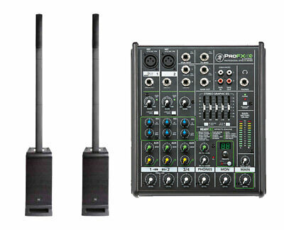 2x JBL EON ONE PRO Portable PA System  + Mackie ProFX4 V2 4-Channel Mixer