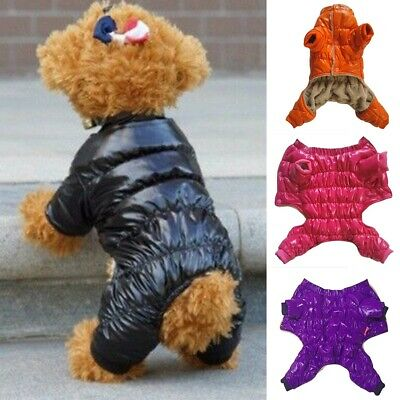 Pet Dog Jumpsuit Puppy Warm Coat Jacket Clothes Thick Apparel Outwear Costume