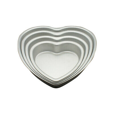 6 Inch x 3 Inch High Heart Shaped Cake Pan with Removable Bottom - Hot Stuff ...