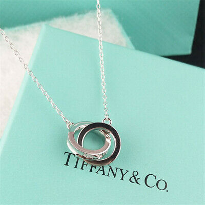 Tiffany & Co Sterling Silver 1837 Interlocking Circles Pendant Necklace