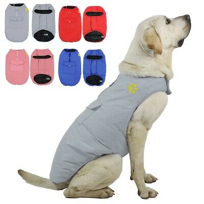 Waterproof Pet Dog Clothes Winter Warm Padded Coat Vest Jacket Small Large Dog