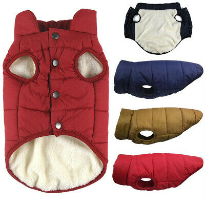 Winter Warm Padded Dog Clothes Waterproof Pet Coats Vest Jacket for Dogs XS-3XL