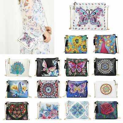 DIY Special Shaped Diamond Painting Leather Chain Crossbody Shoulder Bag Handbag