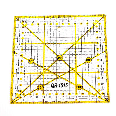 15*15cm Square Patchwork Tailor Cloth Cutting Quilting Ruler DIY Sewing Tool UK