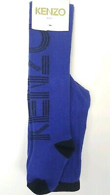 Kenzo Kids Tights, Age 3-6Y, UK 9-11.5, Blue And Black, RRP £30, BNWT
