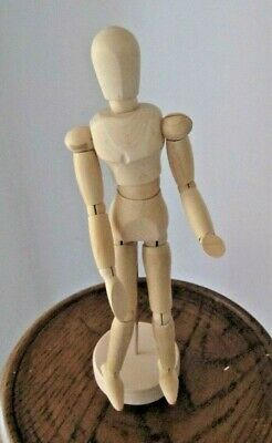 MINIATURE Wooden Artist Movable Limbs Male Sketch Figure Model Mannequin