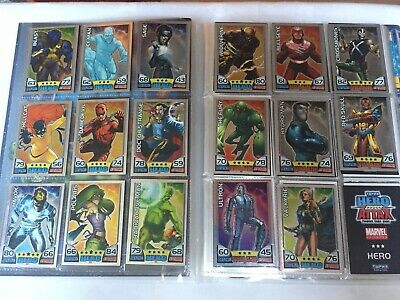 17x 2011 Topps Marvel Universe Hero Attax Collectors Cards Foil