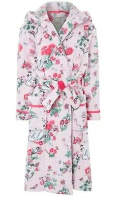Monsoon Avery Girls Pink Chunky Robe Dressing Gown Aged 12-13 Years Bnwt 152-158