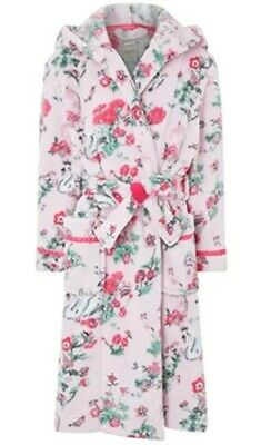 Monsoon Avery Girls Pink Chunky Robe Dressing Gown Aged 3-4 Years Bnwt 98-104