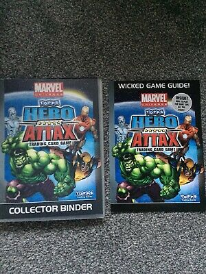 96x Marvel Topps Hero Attax 2010 Trading Card Game Plus Collectors Binder