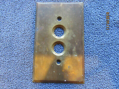 Antique Original Brass Single Gang Push Button Switch Plate