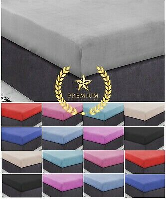 30 cm Cosy Teddy Fleece Fitted Sheet Extra Deep Bed Sheets Warm Mattress Covers