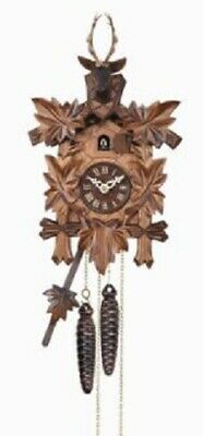 Quartz Movement Deer Head with Leaves German Cuckoo Clock with Music Germany