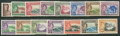 Dominica KGVI 1938-47 ¼d-10s SG 99-109 hinged mint (cat. £75 as u/m)